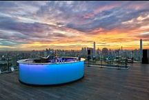 Octave Rooftop Lounge & Bar - Bangkok / Resting at the very top of the Bangkok Marriott Hotel Sukhumvit is a trendy lounge and bar offering breathtaking panoramic views of Thailand's trendiest city.  Octave Rooftop Lounge literally rests at the top of the Bangkok social scene, serving refreshing drinks from duck 'til dawn. http://hotelcocktail.com/octave-rooftop-lounge-and-bar-bangkok/