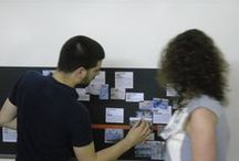 AzLab#14 special | Collaborative timeline | Azulejos and frames / The results of the collaborative timeline were presented during the AzLab#14. The contributions received complemented the proposal in the blog and, for each frame typology  was written a brief text (some resulting from external collaborations). During the AzLab#14 the participants were invited to complement the collaborative timeline associating to each typology the received photos in situ (and others from an archive). #Azulejo #AzLab #CollaborativeTimeline #Frames