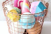 Luxury bath items and baths