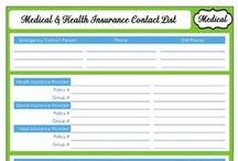 Medical Binder Printables / Printable sheets you can add to a medical binder to keep your child's medical information handy!