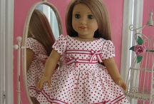 Doll clothes - bodice and skirt / Ideas for creating doll clothes using a basic dress pattern.