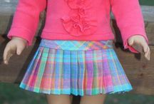 Doll clothes - pleats / Inspiration for using pleats in doll clothes.