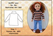 """Australian Girl Doll 20"""" Doll. Doll Clothes and Patterns. / Australian Girl Dolls and their clothes to make and buy. Patterns and pattern hacks to get from 18"""" to 20""""."""
