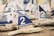 Mariage marin / Navy wedding / Que vous organisiez votre réception au bord de la mer ou que vous ayez envie d'une ambiance marine, ce tableau est pour vous !