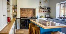 Antiqued Brass Contemporary Shaker Kitchen