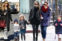 Matching Celebrities / Mother-daughter, father-son matching celebrities!