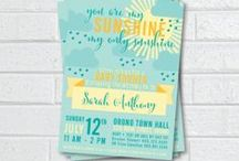Baby Shower Invites / Baby Shower Invitations.  Printable and printed invites.  Personalized invites for your special occasion.