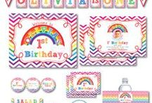 Birthday Decoration Printable Sets / Birthday Decoration Printable Sets.  Print your own personalized decorations.  We can create a custom set for you too!