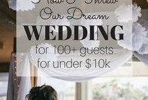 Wedding Inspiration / DIY Wedding, Budget Wedding & tips for budget-friendly brides!