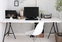 * Office Envy * / This is an inspiration board for beautiful office and work space interior design.