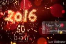 New Year 2016 Countdown live wallpaper for android / Countdown to New Year 2016 with lot of sparks, lights and fireworks! Welcome New Year 2016 with this live wallpaper!   Set a countdown to New Year with a 2016 full of sparks on a scene with lot of colorful lights and fireworks.     Happy New Year!