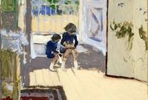 Édouard Vuillard (Les Nabis) / One of the intimissi! Jean-Édouard Vuillard (11 November 1868 – 21 June 1940) met in the Lycée Condorcet Ker Xavier Roussel (also a future painter and Vuillard's future brother in law), Maurice Denis, musician Pierre Hermant, writer Pierre Véber, and Lugné-Poe. In 1885, Vuillard left the Lycée, he refused a military career and joined Roussel at the studio of Diogène Maillart. By 1890, he had joined the Nabis, art students inspired by Gauguin. http://en.wikipedia.org/wiki/Édouard_Vuillard