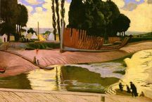 """Maurice Denis (Les Nabis) / I love Les Nabis! Maurice Denis (November 25, 1870 – November 1943) was a French painter, and a member of the Symbolist and Les Nabis. His theories contributed to the foundations of cubism, fauvism, and abstract art. For an avant-garde figure, Denis had a surprisingly broad religious streak, writing in his notebook at age 15, """"Yes, it's necessary that I am a Christian painter, that I celebrate all the miracles of Christianity, I feel it's necessary."""" http://en.wikipedia.org/wiki/Maurice_Denis"""