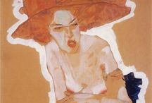 Egon Schiele / Weard beauty. Egon Schiele (June 12, 1890 – October 31, 1918) was an Austrian painter. A protégé of Gustav Klimt, Schiele was a major figurative painter of the early 20th century. His work is noted for its intensity, and the many self-portraits the artist produced. The twisted body shapes and the expressive line that characterize Schiele's paintings and drawings mark the artist as an early exponent of Expressionism. http://en.wikipedia.org/wiki/Egon_Schiele