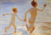 Peder Severin Krøyer / People interaction. Peder Severin Krøyer (23 July 1851 – 21 November 1909), known as P. S. Krøyer, was a Danish painter. He is one of the best known and beloved, and undeniably the most colorful of the Skagen Painters. Krøyer was raised in Copenhagen by Bertha Cecilie and zoologist Henrik Nikolai Krøyer, after his mother was judged unfit to care for him. http://en.wikipedia.org/wiki/Peder_Severin_Krøyer