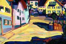 Wassily Kandinsky (Der Blaue Reiter) / Colourful. Wassily Wassilyevich Kandinsky - Васи́лий Васи́льевич Канди́нский (16 December1866 – 13 December 1944) was born in Moskou and an influential painter and art theorist. In 1896 Kandinsky studied in Munich, returned to Moscow in 1914, and went to Germany again in 1921 where he met Gabriele Münter. There he taught f.e. at Bauhaus school of art until the Nazis closed it in 1933. He moved to France where he died at Neuilly-sur-Seine in 1944. http://en.wikipedia.org/wiki/Wassily_Kandinsky