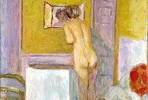 Pierre Bonnard (Les Nabis) / Intimate & human. Pierre Bonnard (October 1867 – 23 January 1947) was a French painter and printmaker, as well as a founding member of the Post-Impressionist group of avant-garde painters Les Nabis. Bonnard preferred to work from memory, using drawings as a reference. His paintings have a dreamlike quality. The intimate domestic scenes, for which he is perhaps best known, often include his wife Marthe de Meligny. http://en.wikipedia.org/wiki/Pierre_Bonnard