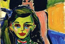"""Ernst Ludwig Kirchner (Die Brücke) / Ernst Ludwig Kirchner (6 May 1880 – 15 June 1938) was a German painter and one of the founders of Die Brücke, a key group leading to the foundation of Expressionism in 20th-century art. He volunteered for army service in World War I, but suffered a breakdown and was discharged. In 1933 his work was branded as """"degenerate"""" by the Nazis and in 1937 over 600 of his works were sold or destroyed. In 1938 he committed suicide by gunshot. http://en.wikipedia.org/wiki/Ernst_Ludwig_Kirchner"""