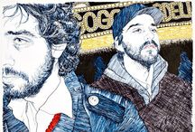 Hope Gangloff / Hope Gangloff (1974 - ) is an American painter who lives and works in New York NY.  She is known for creating vibrant and truthful portraits of her friends as a way to share her view of modern American life. By capturing this generation of young adults in her illustrations and paintings, she documents this era's struggle during these tumultuous economic times. http://www.artspace.com/hope_gangloff http://www.hopegangloff.com