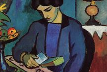 August Macke (Der Blaue Reiter) / Colourful! August Macke (3 January 1887 – 26 September 1914) was one of the leading members of the German Expressionist group Der Blaue Reiter (The Blue Rider). He lived during an innovative time for German art: he saw the main German Expressionist movement as well as the successive avant-garde movements which were forming in the rest of Europe. http://en.wikipedia.org/wiki/August_Macke