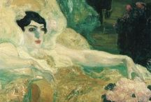 Hermenegildo Anglada Camarasa / Burlesque! Hermenegildo Anglada Camarasa (1871–1959) was a Catalan and Balearic Spanish painter. Born in Barcelona, he studied there at the Llotja School. His early work had the clear academic imprint of his teacher, Modest Urgell. In 1894 he moved to Paris, where he adopted a more personal style, after that of Degas and Toulouse-Lautrec. But his work was also marked by the intense colors which presaged the arrival of Fauvism. http://en.wikipedia.org/wiki/Hermen_Anglada_Camarasa