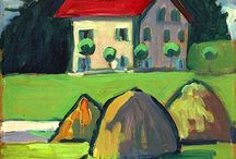 Gabriele Münter (Der Blaue Reiter) / Gabriele Münter (19 February 1877– 19 May 1962) was a German expressionist painter who was at the forefront of the Munich avant-garde in the early 20th century. She went to Munich's progressive Phalanx School and became involved with the school's director Wassily Kandinsky. He was the first teacher that had actually taken her painting abilities seriously. In 1911 Münter and Kandinsky founded the expressionist group Der Blaue Reiter (The Blue Rider). http://en.wikipedia.org/wiki/Gabrielle_Munter