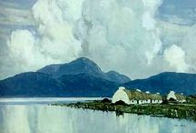 Paul Henry / Holiday! Paul Henry (11 April 1877 – 24 August 1958) was an Irish artist noted for depicting the West of Ireland landscape in a spare post-impressionist style. He was born in Belfast, Ireland, the son of a Baptist minister. He studied art in Belfast before going to Paris in 1898 to study at the Académie Julian and at Whistler's studio. In 1919 he moved to Dublin and in 1920 he was one of the founders of the Society of Dublin Painters. http://en.wikipedia.org/wiki/Paul_Henry_(painter)