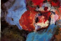 Emil Nolde (Die Brücke) / Emil Nolde (7 August 1867 – 13 April 1956) was a German Danish painter and printmaker. He was one of the first Expressionists, a member of Die Brücke, and is considered to be one of the great oil painting and watercolour painters of the 20th century. He is known for his vigorous brushwork and expressive choice of colors. His watercolors include vivid, brooding storm-scapes and brilliant florals. http://en.wikipedia.org/wiki/Emil_Nolde