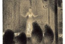 Georges Seurat / Georges-Pierre Seurat (2 December 1859– 29 March 1891) was a French Post-Impressionist painter and draftsman. He is noted for his innovative use of drawing media and for his chromoluminarism and pointillism. His large-scale work, A Sunday Afternoon on the Island of La Grande Jatte (1884–1886), altered the direction of modern art and is one of the icons of late 19th-century painting. http://en.wikipedia.org/wiki/Georges_Seurat