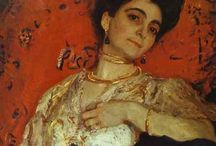 Valentin Serov / Classic. Valentin Alexandrovich Serov ((January 19, 1865 – December 5, 1911) was born in St. Petersburg, son of the Russian composer Alexander Serov, and his wife Valentina Bergman, a composer of German-Jewish background. From 1890 on, the portrait became the basic genre in Serov's art, often paintings notable for the psychologically pointed characteristics of his subjects. Serov's favorite models were actors, artists, and writers. http://en.wikipedia.org/wiki/Valentin_Serov