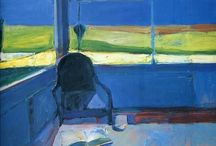 Richard Diebenkorn / Admiring Hopper. Richard Diebenkorn (April 22, 1922 – March 30, 1993) was a American painter. His early work is associated with Abstract expressionism and the Bay Area Figurative Movement of the 1950s and 1960s. His later work (best known as the Ocean Park paintings) were instrumental to his achievement of worldwide acclaim. Edward Hopper's influence can be seen in Diebenkorn's representational work of this time. http://en.wikipedia.org/wiki/Richard_Diebenkorn