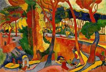 André Derain / André Derain (10 June 1880 – 8 September 1954) was a French artist, painter, sculptor and co-founder of Fauvism with Henri Matisse. In 1898, while studying to be an engineer, he attended painting classes and met Matisse. In 1900, he met and shared a studio with Maurice de Vlaminck and together they began to paint scenes in the neighbourhood. http://en.wikipedia.org/wiki/André_Derain