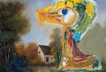 Asger Jorn (COBRA) / Asger Oluf Jorn (3 March 1914 – 1 May 1973) was a Danish painter, sculptor, ceramic artist, and author. He was a founding member of the avant-garde movement COBRA and the Situationist International. He was born in Vejrum, in the northwest corner of Jutland, Denmark, and baptized Asger Oluf Jørgensen. The largest collection of Asger Jorn's works—including his major work Stalingrad—can be seen in the Museum Jorn, Silkeborg, Denmark. http://en.wikipedia.org/wiki/Asger_Jorn