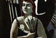 Max Beckmann / Trauma. Max Beckmann (February 12, 1884 – December 28, 1950) was a German painter, sculptor, and writer. Although he is classified as an Expressionist artist, he rejected the movement. In the 1920s he was associated with the Neue Sachlichkeit. His traumatic experiences of World War I, in which he volunteered as a medical orderly, coincided with a dramatic transformation of his style. He is known for the self-portraits painted throughout his life, their number and intensity rivaled only by those of Rembrandt and Picasso. http://en.wikipedia.org/wiki/Max_Beckmann