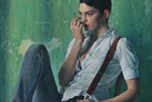 Alex Russell Flint / Alex Russell Flint (1974 -) is a British artist who produces soulful oil paintings. He divides his time between London and Argenton-Chateau in France, where he lives and works in a former school house he acquired in 2010. He has had numerous group and solo exhibitions in London and Ireland and his work hangs in North America, China, South Africa and Europe. Alex is the great-grandson of the artist Sir William Russell Flint. http://alexrussellflint.com/work