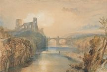 """Joseph Mallord William (J.M.W.) Turner / Joseph Mallord William Turner (14 May 1775 – 19 December 1851) was an English Romantic landscape painter, water-colourist, and printmaker. Turner was considered a controversial figure in his day, but is now regarded as the artist who elevated landscape painting to an eminence rivalling history painting. He is commonly known as """"the painter of light"""" and his work is regarded as a Romantic preface to Impressionism. http://en.wikipedia.org/wiki/J._M._W._Turner"""