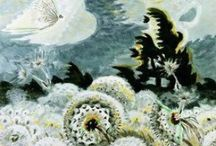 """Charles E. Burchfield / Charles Ephraim Burchfield (April 9, 1893 - January 10, 1967) was a visionary artist, known for his passionate watercolors of nature scenes and townscapes. The largest collection of his work is in the Burchfield Penney Art Center in Buffalo. According to Burchfield's friend and colleague Edward Hopper, """"The work of Charles Burchfield is most decidedly founded, not on art, but on life, and the life that he knows and loves best."""" http://en.wikipedia.org/wiki/Charles_E._Burchfield"""