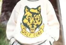 Knitting patterns for logo or patterned sweaters, coats / cubs-scouts-beavers