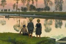 Emile Claus / Emile Claus was born on 27 September 1849, in Sint-Eloois-Vijve, a village in West-Flanders (Belgium), at the banks of the river Lys. As a child, Emile already loved drawing and on Sunday went three kilometres on foot to the Academy of Waregem (the neighbouring town) to learn how to draw. As a celebrity, he became a friend of the family with the French sculptor Auguste Rodin and the naturalist Émile Zola. http://en.wikipedia.org/wiki/Emile_Claus