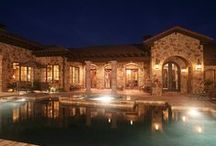 """TGB: Texas Tuscan Hacienda / Typical of a """"Tejas Espana Styled"""" hacienda, this residence highlights the use of materials native to Texas combined with Argentinian wood floors and wrought iron doors imported from Mexico. The result is Texas Tuscan styled home with influences of Spanish Heritage."""