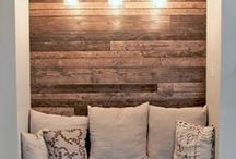 IDEA BOARD: Barnwood / Using reclaimed barnwood timbers can give old wood a new life while decreasing the demand for wood on earth's rapidly vanishing forests.