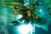 Cirque de la Meer- underwater fashion shoot / Photo: Vivien Borzi Styling: Gabriella Parádi Make up: Viki Gáspár Modell: Lili Papp