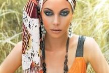 """Out of Africa / Out of Africa - Editorial, published on the Elite magazin July 2008. Photo: Csaba J. Almási, make up: Ibolya """"Fibi"""" Véger, styling: Gabriella Parádi"""