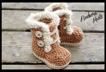 Crochet slippers & baby boties