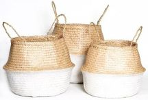Seagrass Belly Baskets / Beautiful and functional, Seagrass Belly Baskets (known as Panier Boule in French) are this seasons must-have when it comes to home decoration. With endless use around the home, these stylish foldable baskets are perfect for storing blankets and throws, toys, towels… even your favorite household plant.   Highly sustainable and eco-friendly, our Seagrass Belly Baskets are extremely durable and versatile… So how will you use yours?