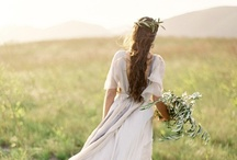 The natural green bride / Brides with the natural look in eco gowns or going green - by putting out the recycling for example! / by ethicalweddings