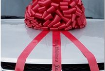 Car Bows / Car bows for large gifts. Find them on LargeGiftBows.com. Each car bow is handmade to order.