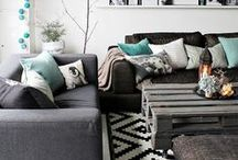 GREY / Different shades of grey in the home.