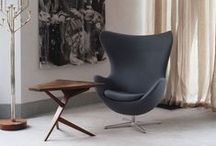 ARMCHAIRS / A selection of vintage armchairs and classics like the Eames Lounge chair.