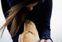 Animals / I love animals, especially dogs. I think that the connections between dogs and humans are rare and very special.m